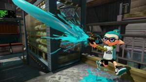 Squid kid strzelający z Splash-O-Matic