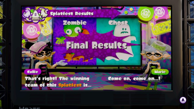 Splatfest zombie vs. ghost