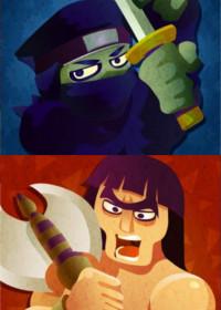 Splatfest barbarzyńcy kontra ninja