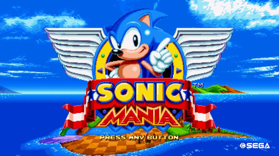 Sonic Mania start menu