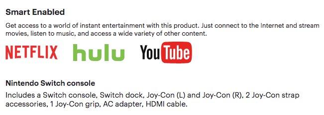 Best Buy Netflix, Hulu i YouTube na Nintendo Switch