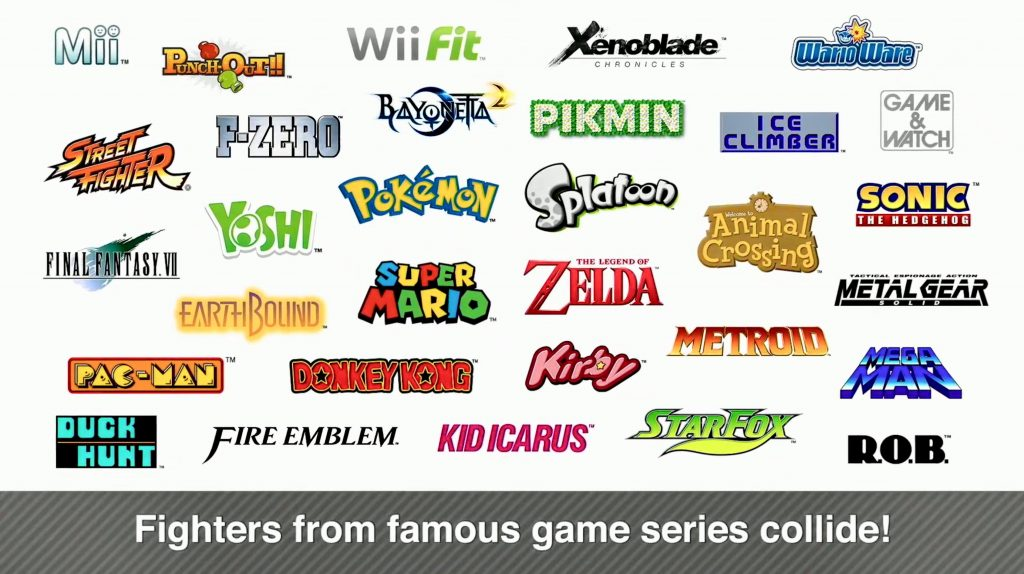 Pełna lista postaci dostępna w Super Smash Bros. Ultimate