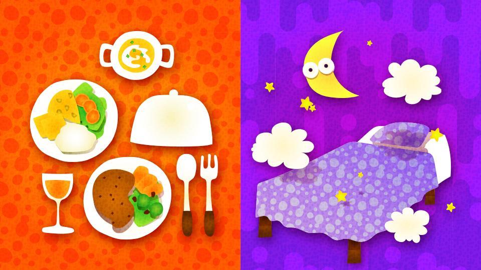 Splatfest jedzenie kontra spanie
