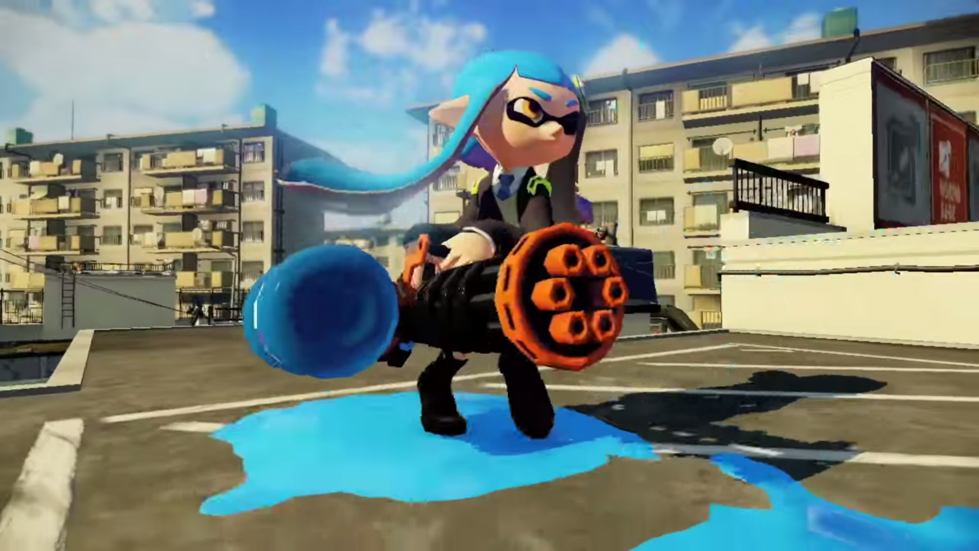 Splatoon minigun wideo