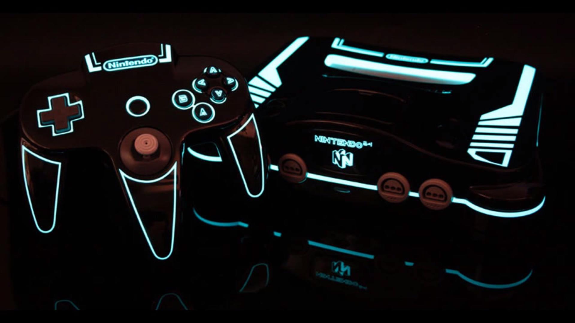 Nintendo 64 jak prosto z filmu Tron
