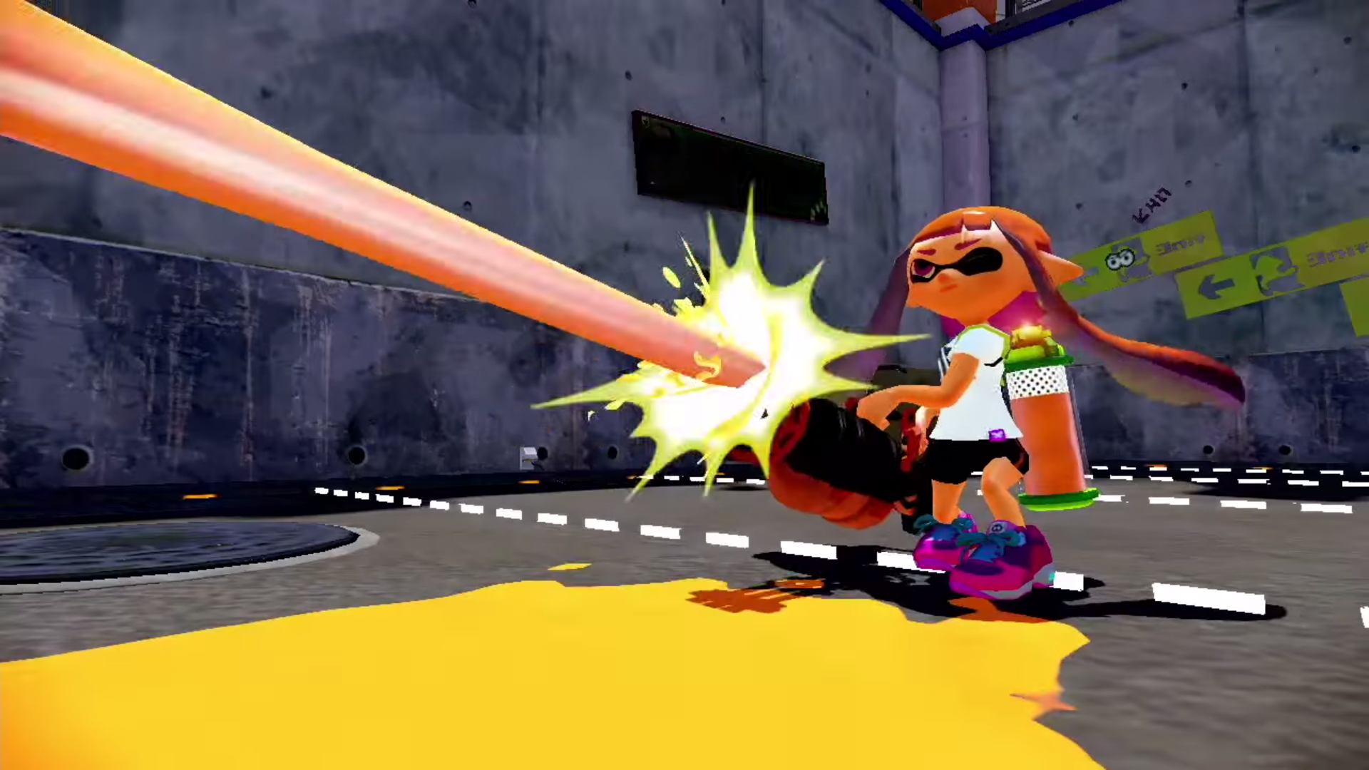 Splatling minigun na farbę