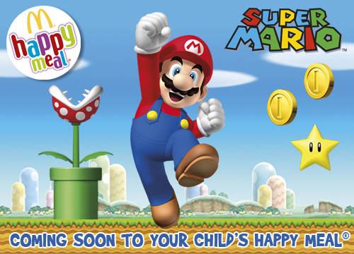 Zabawki Super Mario w restauracjach Mc Donald's