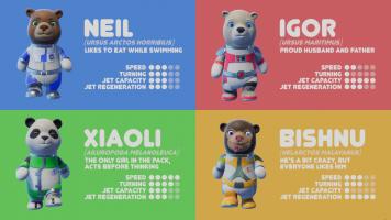 Astro Bears Party wybór postaci
