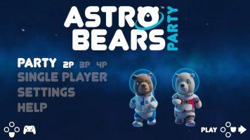 Astro Bears Party menu główne