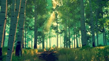 Firewatch zielony brzozowy lasek