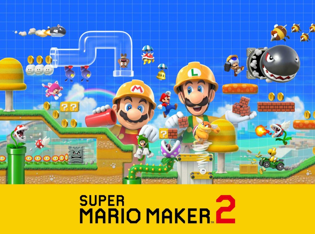 Banner Super Mario Maker 2 na Nintendo Switch